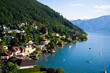 Gmunden city and Traunsee lake (Austria)