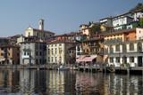 Fototapety Town of Peschiera, Iseo lake, Italy