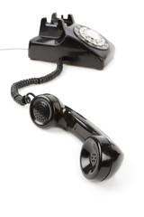 Black telephone Receiver