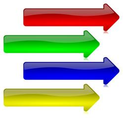 Frecce Vettoriali Colorate Glossy 3