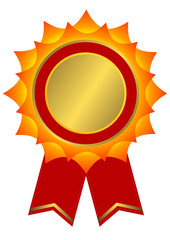 Red, golden and yellow award (vector)