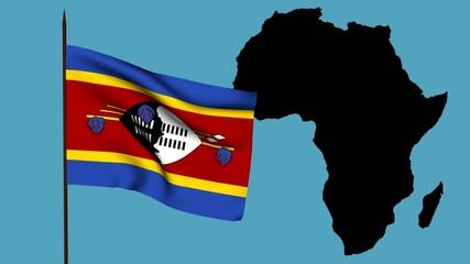 Africa  bandiera dello Swaziland