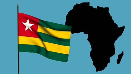 Africa  bandiera del Togo