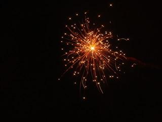 Sparkling Fiery Red Firework in Salford 2009 II