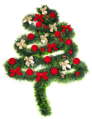 Christmas decoration, isolated on white background