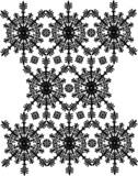 periodic black curled design poster