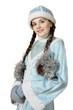 Russian Christmas character Snegurochka (Snow Maiden)