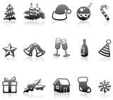 Fototapety Minimalistic monochrome Christmas icons