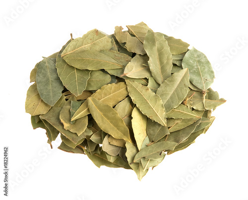 Bay leaves isolated on white background - 18224962