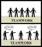 Teamwork until it all goes horribly wrong poster