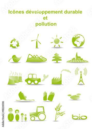 Icônes du développement durable et pollution