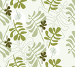 Herbal seamless background