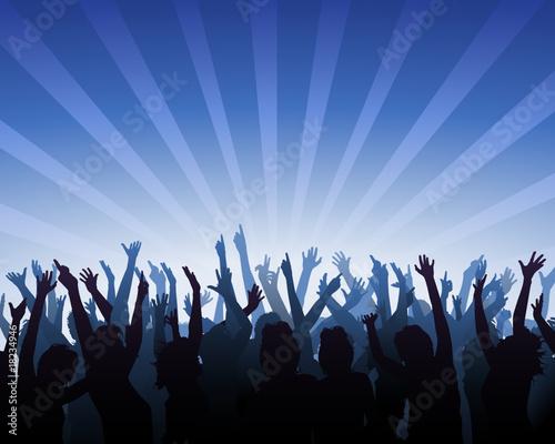 jubelnde Zuschauer