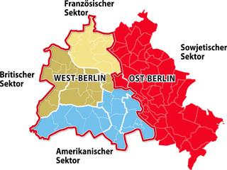 Geteiltes Berlin, Sektoren in Berlin nach 1945