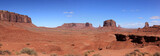 vue panoramiquye de monument valley