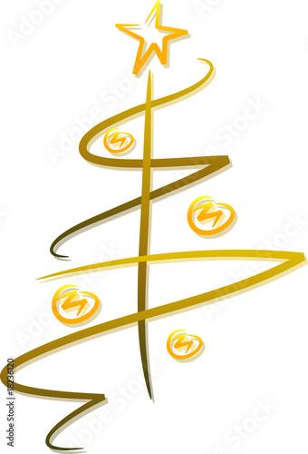 abstrakter goldener weihnachtsbaum stockfotos und. Black Bedroom Furniture Sets. Home Design Ideas