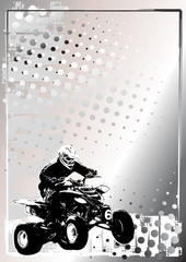 motorsport silver poster background