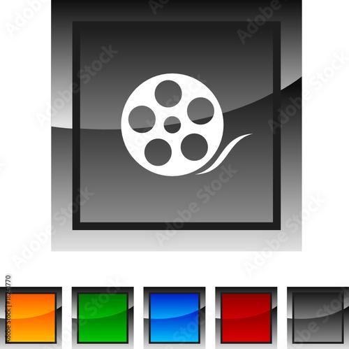 poster of Media icon set. Vector illustration