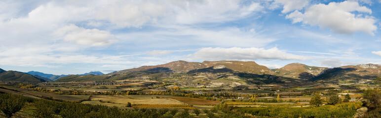 panoramique paysage d'automne
