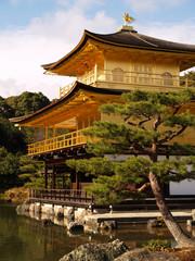 Golden Pavilion Kinkaku-ji in Kyoto Japan