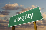 Integrity Green Road Sign poster