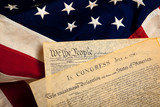 American historic documents on a flag - 18246555