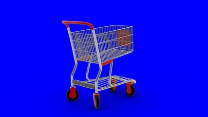 Shopping cart transforming in high-speed transport