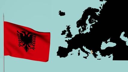 bandiera europa albania