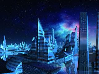 Aquarius City Skyline