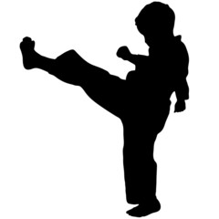 boy karate kick mae gery