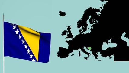 Bandiera della Bosnia Europa