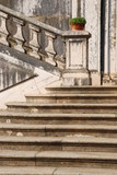 Architectural detail of a antique staircase with stone steps poster