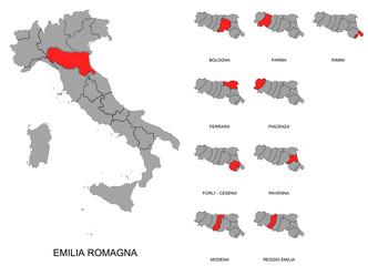 Emilia Romagna e province