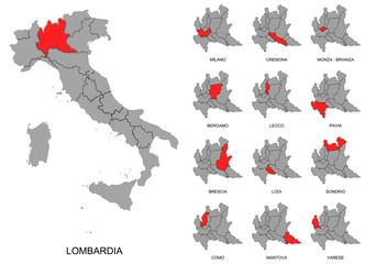 Lombardia e province