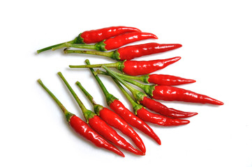 Red hot chilli peppers in a bunch, hot and spicy