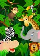 roleta: Wild animals in the jungle