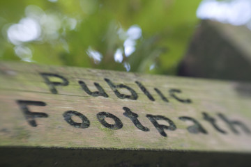Public Footpath Sign post