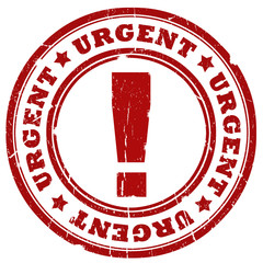 Urgent red ink stamp