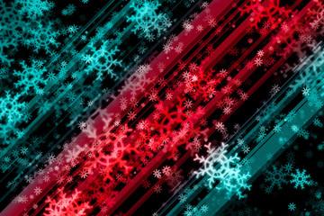 Snow dark background.