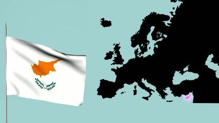 Bandiera Europa ,Cipro