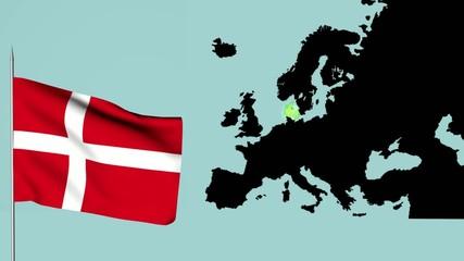 Danimarca bandiera europea