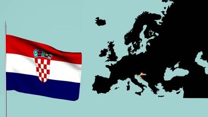 Bandiera europea Croazia