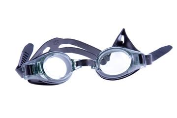 Black swimming goggles
