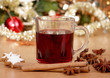 hot wine punch and star anise - xmas
