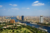 Top of Cairo from tv tower, Panorama - Egypt