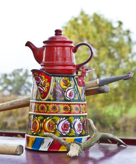 Canal Boat Kettle and Tea Pot