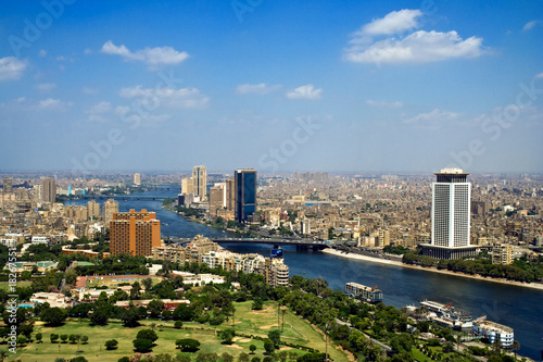 Egypt Top of Cairo from tv tower, Panorama - Egypt