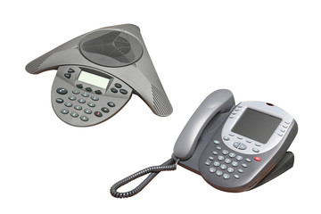 speakerphone and telephone