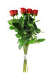 A bouquet of roses isolated on white background