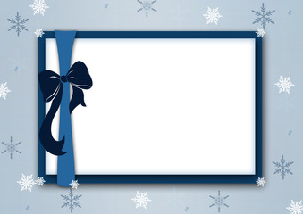 Blue christmas frame